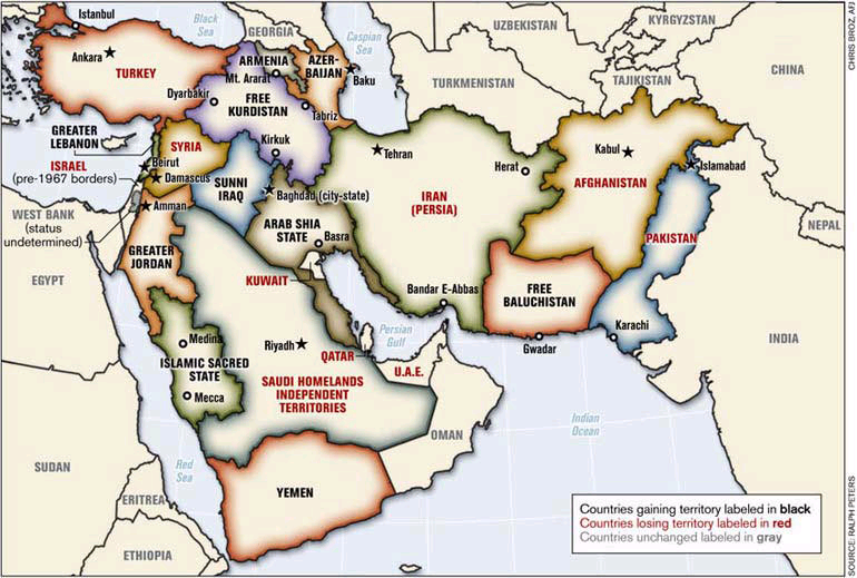 Map Of The New MiddleEast
